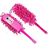 Loghot Chenille Anti-Static Absorbent Microfiber Soft Cartoon Animals Duster Cleaning Brushes (Random Color)