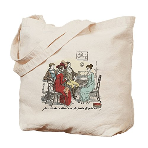 CafePress Pride & Prejudice Ch 44 Natural Canvas Tote Bag, Cloth Shopping Bag