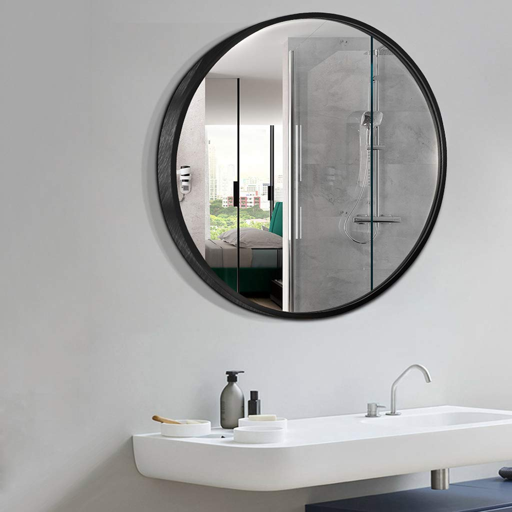 Fabulous Aluminum Alloy Round Bathroom Mirror Bathroom Wall Mount Download Free Architecture Designs Sospemadebymaigaardcom