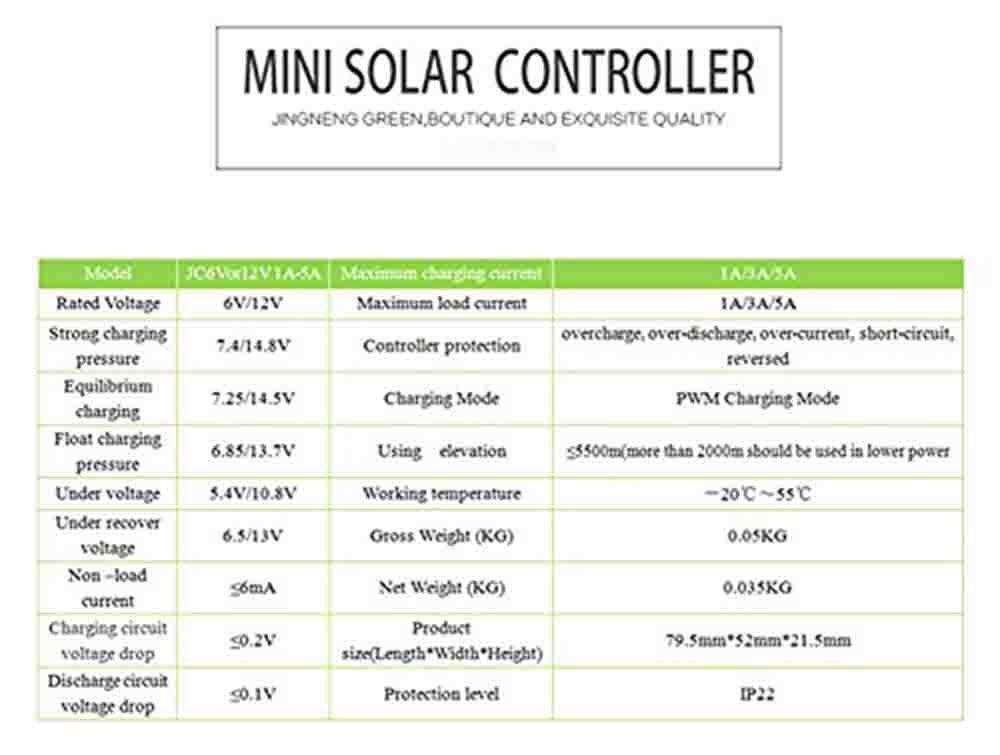 JNGE POWER 5A 6/12V PWM Solar Charge Controller Regulator with Rain and Timer Control for Solar Garden Lamp,Solar Pest-Killer Lamp (12V) by JNGE POWER (Image #4)