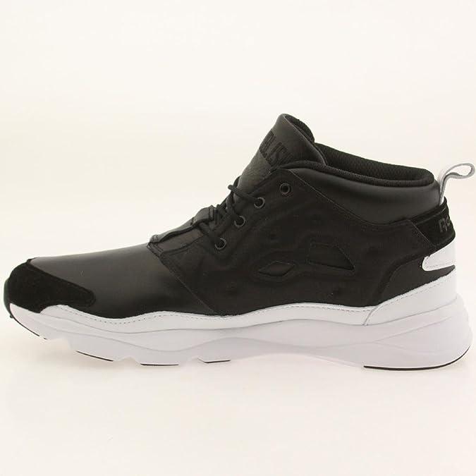 c6229c4e6ca82 Mens Reebok Furylite Chukka AFF PB Publish Black White AQ9728 US 3.5   Amazon.ca  Shoes   Handbags