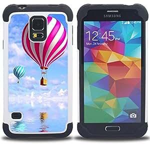 /Skull Market/ - Balloon ball Colourful Air For Samsung Galaxy S5 I9600 G9009 G9008V - 3in1 h????brido prueba de choques de impacto resistente goma Combo pesada cubierta de la caja protec -