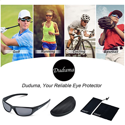 fbd7d96a25 Duduma Tr8116 Polarized Sports Sunglasses for Baseball Cycling Fishing Golf  Superlight Frame (black matte frame