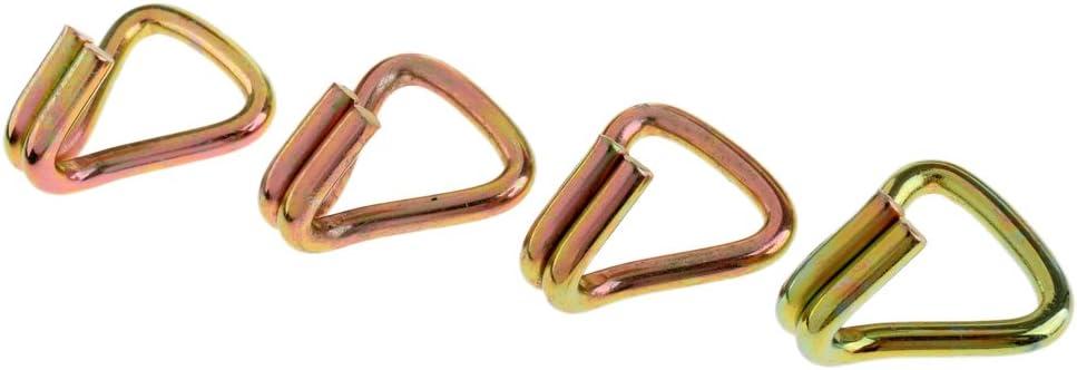 Ganci A Doppio Cricchetto In Acciaio Resistenti Per Impieghi Gravosi 8 Pezzi Universali Per Cinghie Con Cinturino Standard Da 25 Mm