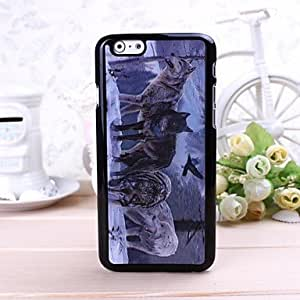 3D Wolf Pattern Plastic Hard Case for iPhone 6 by lolosakes