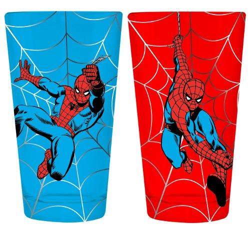 Marvel Spiderman Web Slinging Set of 2 Pint Glasses