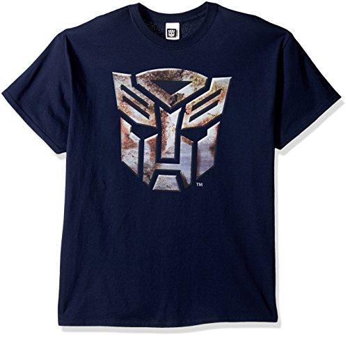 Transformers Men's Logo T-Shirt, Navy, 3XL