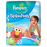 Pampers Splashers Swim Diapers Size 5, 22 Count (Pack of 6)