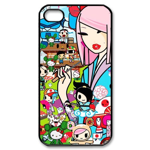 Fayruz- Tokidoki Protective Hard TPU Rubber Cover Case for iPhone 4 / 4S Phone Cases A-i4K143