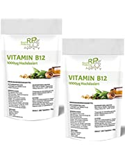 280-540 Tabletten Vitamin B12, (7 bis 14 Monate Vorrat), 1000µg Hochdosiert, mit super reinem Methyl-cobalamin als Depotform, Laborgeprüft, vegan, Nahrungsergänzungsmittel aus Deutschland (280)