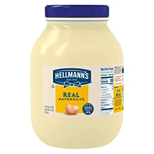 Hellmann's Real Mayonnaise Jar Made with 100% Cage Free Eggs, Gluten Free, 1 gallon
