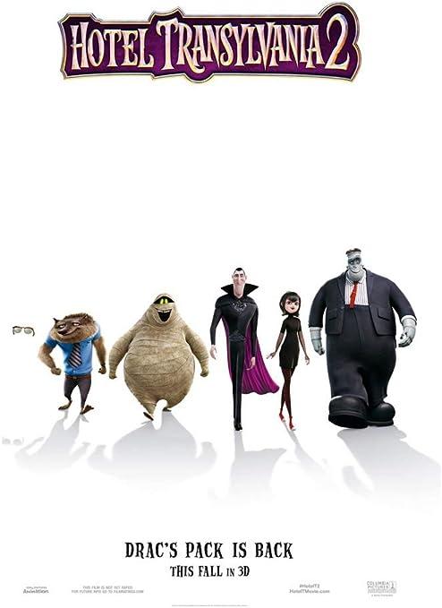 Movie gloss poster 17x 24 inches 2015 Hotel Transylvania 2