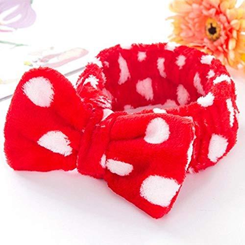 Pink Hair Ribbon Spa Bath Shower Make Up Wash Face Cosmetic Headband Hair Band C]()
