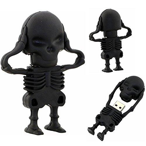 USB Flash Drive Black Skeleton Pen Drive 32GB skull Model Memory Stick Pendrive USB 2.0 Disk for