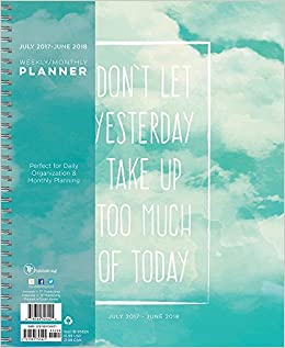 2018 academic year yesterday large weekly monthly planner