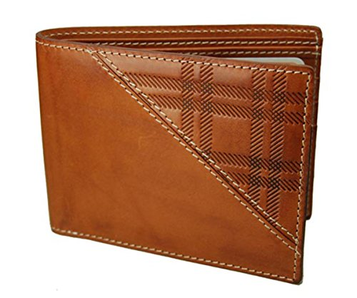 Detachable Id Window - Castello Premium Italian Vacchetta Leather Passcase Wallet with RFID Chip Security
