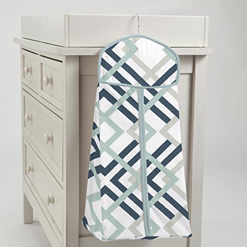 Carousel Designs Navy and Gray Geometric Diaper Stacker by Carousel Designs