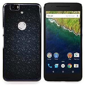 Stuss Case / Funda Carcasa protectora - Patrón Azul marino Gris - Huawei Google Nexus 6P