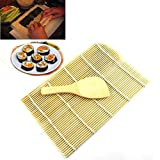 Malloom Bamboo Sushi Mat Onigiri Rice Roller Rolling Maker Kitchen Japaness Food