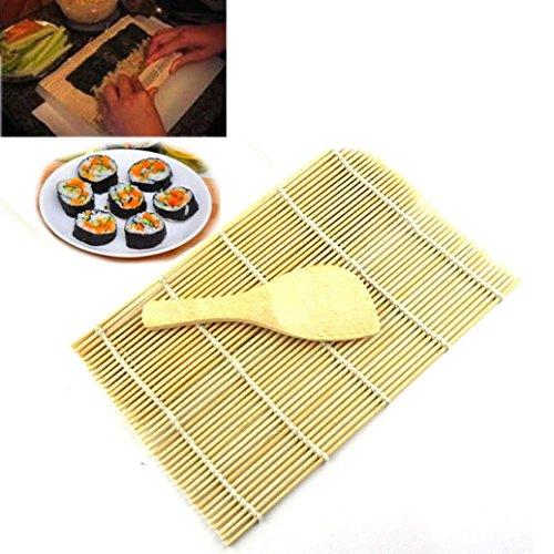 Malloom Bamboo Sushi Mat Onigiri Rice Roller Rolling Maker Kitchen Japaness Food by MALLOOM (Image #4)