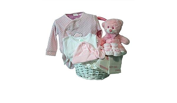 Canastilla regalo bebe - Primera Puesta Optima rosa - Cesta recién nacido hospital: Amazon.es: Bebé
