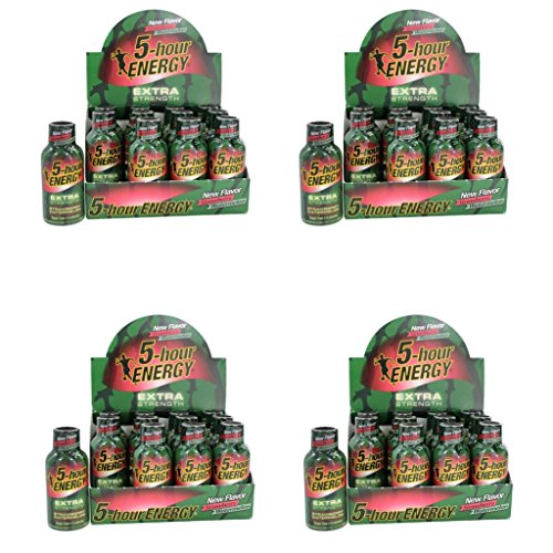5 Hour Energy Shot Extra Strength Strawberry/Watermelon- 48 Pack of 2 Ounce Bottles by 5 Hour Energy