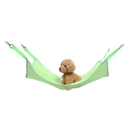 Petneces Hamaca de malla transpirable para gatos, jaula para mascotas, hamaca para gatos,