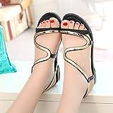KAI-Casual beach sandals, sandals, women's shoes, Rome,black,Thirty-six