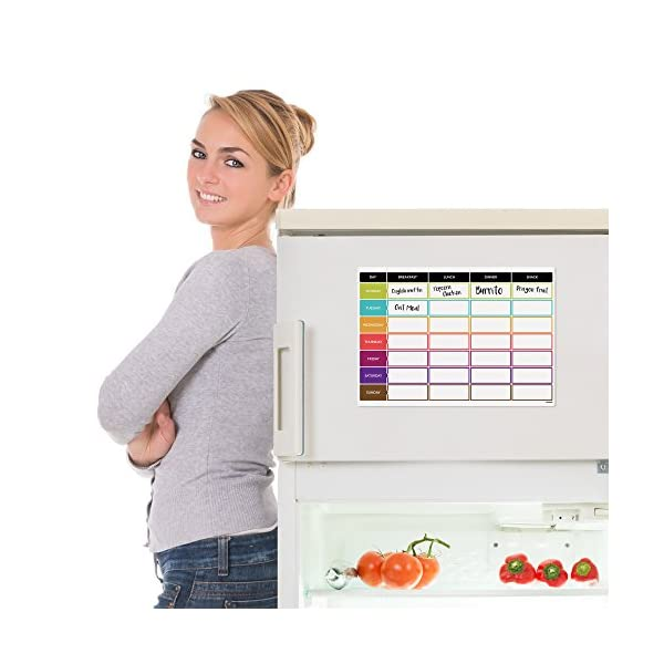 CKB Ltd Meal Diet Planner | Food Prep Nutrition Fitness Magnetic Refrigerator Board With Pen A3 Dry Wipe Magnet Whiteboard Kitchen Weekly Daily Ideal For Planning Family Meals Bodybuilding And Dieting 51pzYwqtIfL