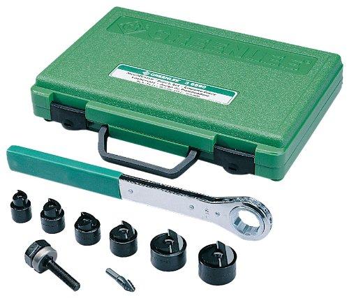 Metric PG-9 Through 30.5mm Greenlee 36690 Manual Slug-Buster Knockout Punch Kit