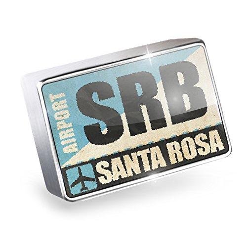 Floating Charm Airportcode SRB Santa Rosa Fits Glass Lockets, (Srb Santa)