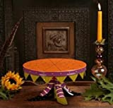 Patience Brewster Witch Shoe Cake Plate - Krinkles Halloween Décor New 08-30626