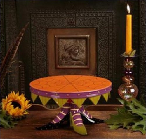 Patience Brewster Witch Shoe Cake Plate - Krinkles Halloween Décor New (Patience Brewster Halloween Krinkles)
