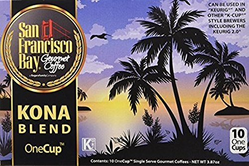 Kona Bay Kona Bay - SAN FRANCISCO BAY KONA BLEND 10 ONE CUPS for Keurig K-Cup Brewers