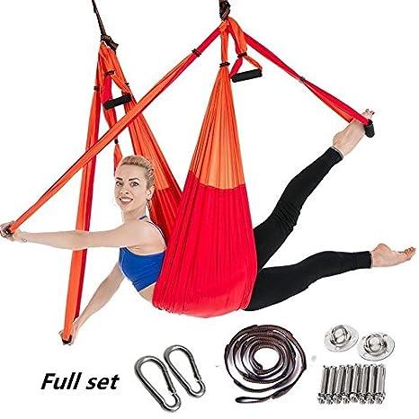 Amazon.com: Hamaca de yoga para antena de vuelo, para yoga ...