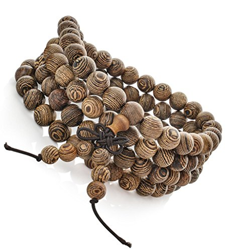 fibo steel 8mm wood beaded bracelet for mens womens. Black Bedroom Furniture Sets. Home Design Ideas