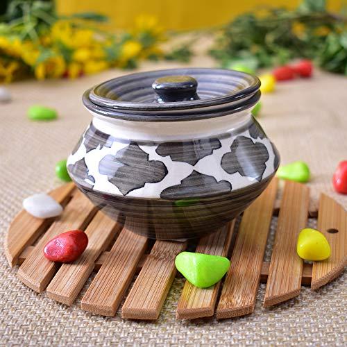 KunhaR Ceramic Handi  250 Ml , Gray