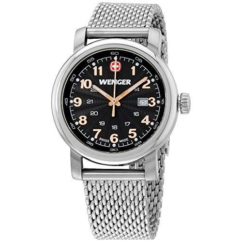 Wenger Urban Classic Quartz Movement Black Dial Ladies Watch 01.1021.106