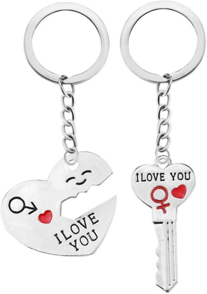 ensemble cr/éatif et utile Ogquaton /Couple romantique Porte-cl/és Porte-cl/és Cadeau damoureux du cadeau de la Saint-Valentin pour le cour