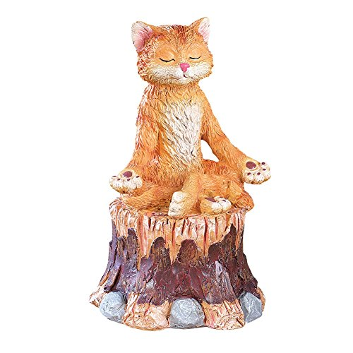 Zen Animals Garden Figurine Cat