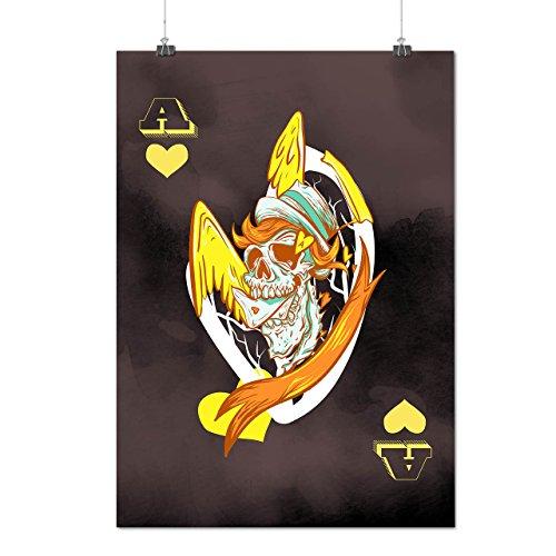 Ace Skull Angel Horror Matte/Glossy Poster A2 (60cm x 42cm) | Wellcoda