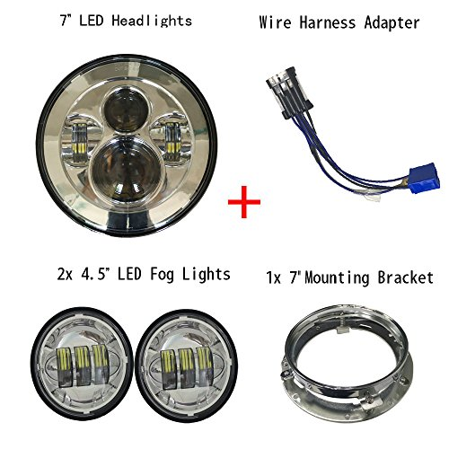 51pzaTLhL4L._SL500_ h4 bulb wiring harness harley harley davidson wiring diagrams Custom Auto Wire Harness H4 at gsmx.co