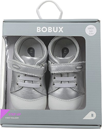 Bobux Step-Up Misty Argent Griffonnage Chaussure ( 725610 )