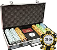 300 Ct Monte Carlo Poker Club 14 gram Poker Chip Set Aluminum Case Custom Build