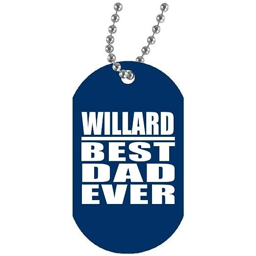 Willard Best Dad Ever - Military Dog Tag Royal Collar ...