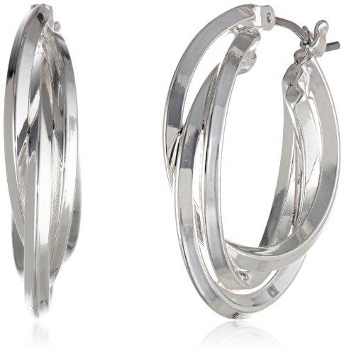 Triple Ring Earrings - Anne Klein