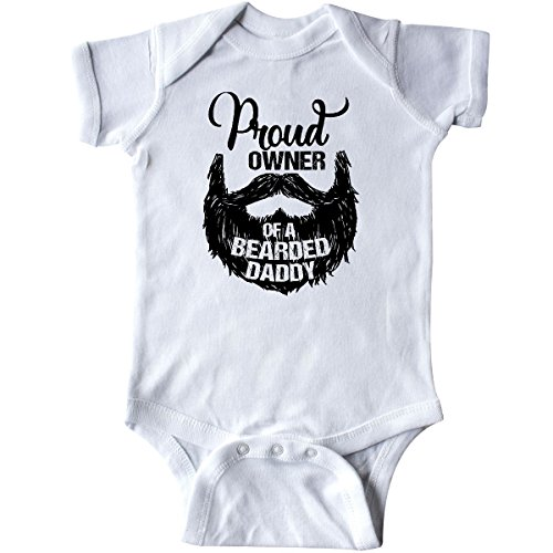 4c09d381a4d8 inktastic - Proud Owner of a Bearded Daddy Infant Creeper 6 Months White