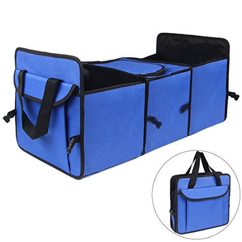 Big Ant Car Trunk Organizer - Cooler Storage for Auto Front & Back Seat, Collapsible - Hold Vehicle Cargo Secure and Prevent Sliding - Toy, Grocery, or Office Automotive Carrier Tote
