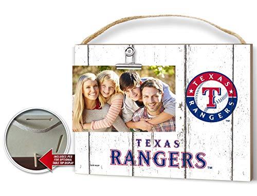 (KH Sports Fan Clip It Weathered Logo Photo Frame (Clip It Weathered Logo Photo Frame Texas Rangers))