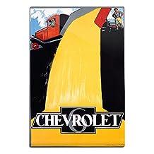 Chevrolet (dump truck) Vintage Poster (artist: Stevens and Adyns) Belgium (12x18 Aluminum Wall Sign, Wall Decor Ready to Hang)